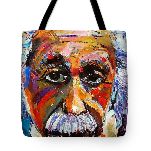 Albert Einstein Genius Tote Bag by Debra Hurd