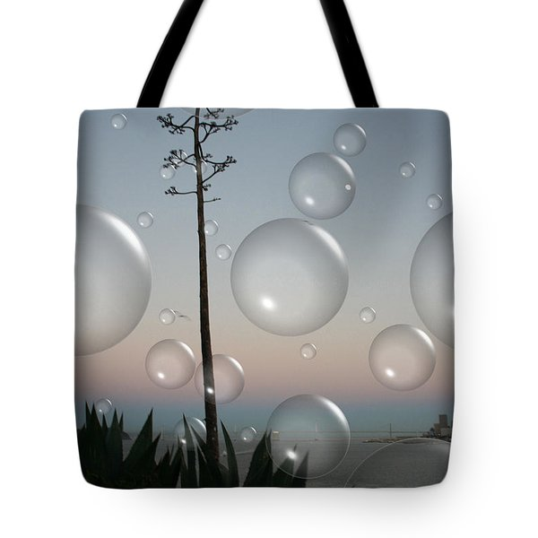 Alca Bubbles Tote Bag by Holly Ethan