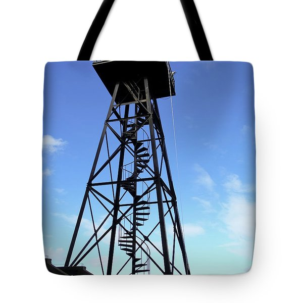 ALCATRAZ GUARD TOWER - SAN FRANCISCO Tote Bag by Daniel Hagerman