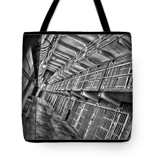 Alcatraz The Cells Tote Bag by Blake Richards
