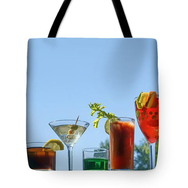 Alcoholic Beverages - Outdoor Bar Tote Bag by Nikolyn McDonald