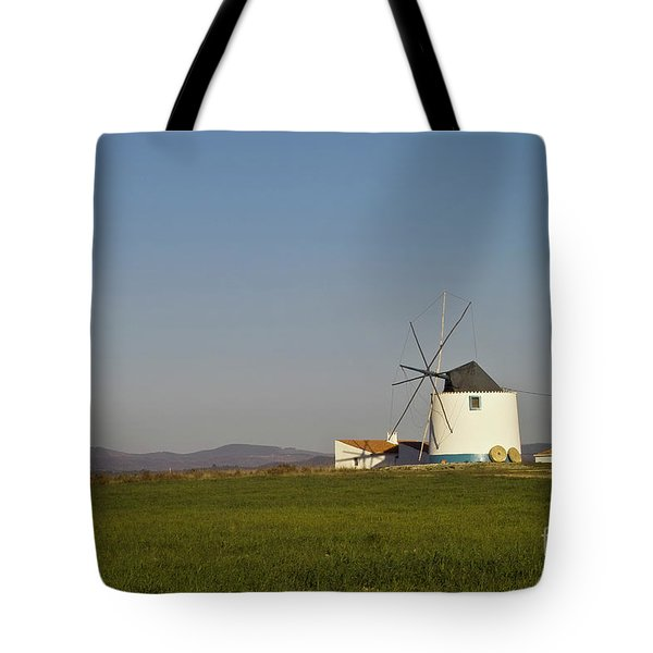 Algarve windmill Tote Bag by Heiko Koehrer-Wagner