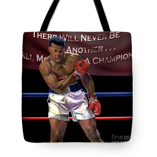 Ali - More Than A Champion Tote Bag by Reggie Duffie