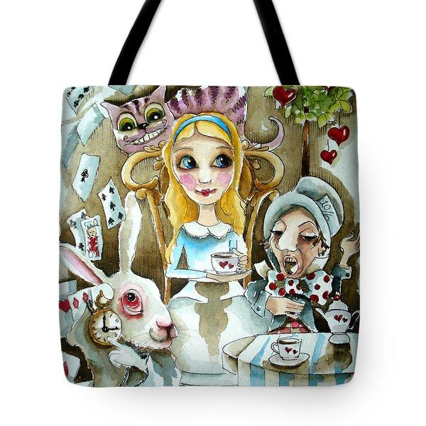 Alice In Wonderland 1 Tote Bag by Lucia Stewart