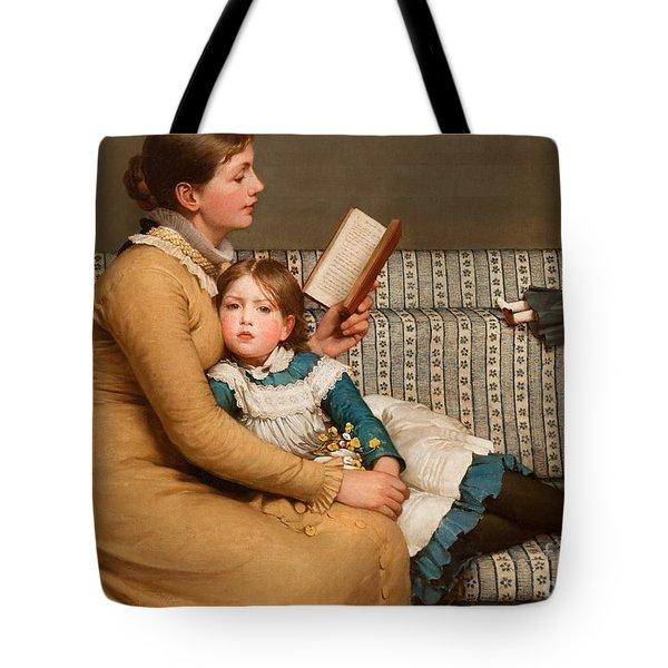 Alice In Wonderland Tote Bag by George Dunlop Leslie