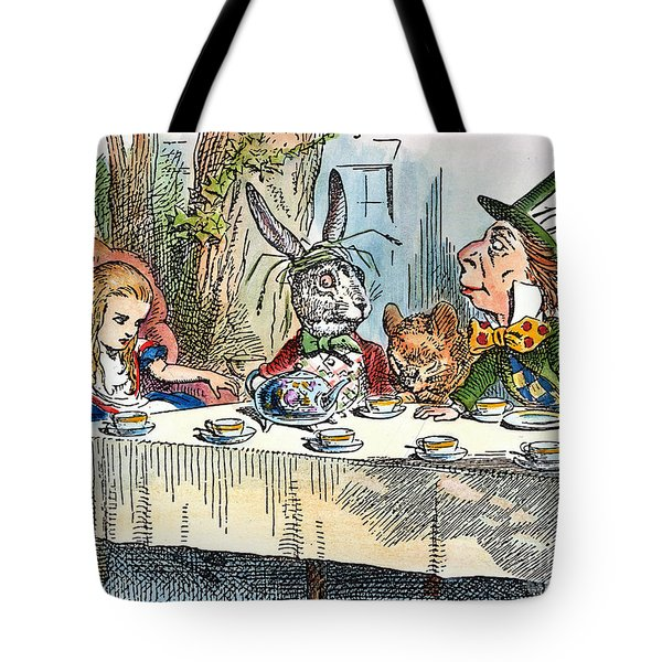 Alices Mad-tea Party, 1865 Tote Bag by Granger