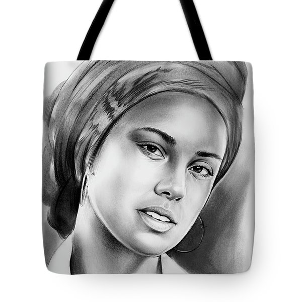 Alicia Keys 2 Tote Bag by Greg Joens