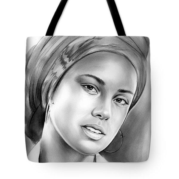 Alicia Keys Tote Bag by Greg Joens