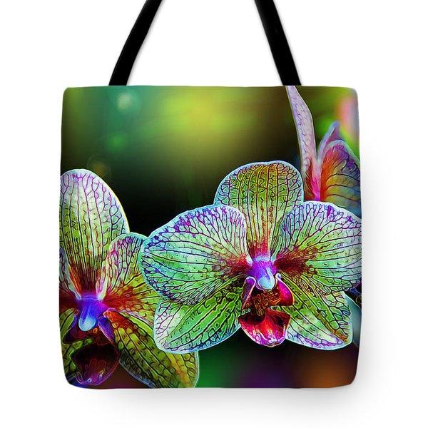 Alien Orchids Tote Bag by Bill Tiepelman