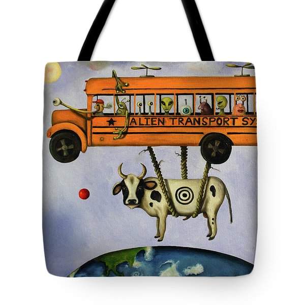 Alien Transport System Tote Bag by Leah Saulnier The Painting Maniac