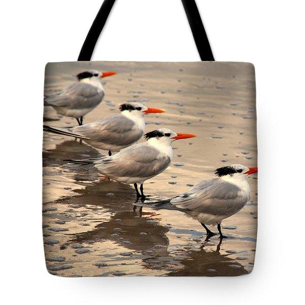 All Lined Up Tote Bag by Susanne Van Hulst