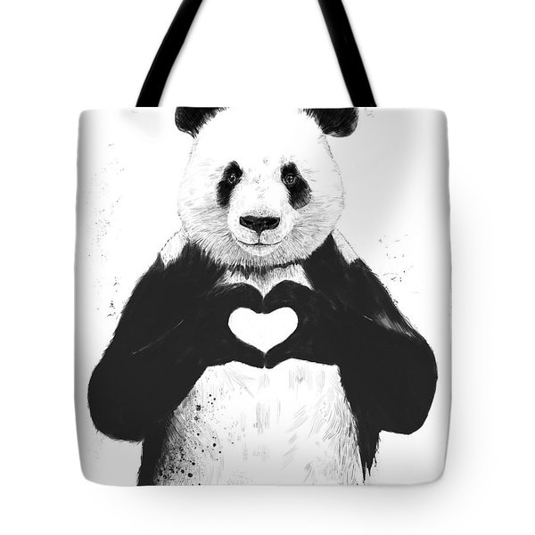 All You Need Is Love Tote Bag by Balazs Solti