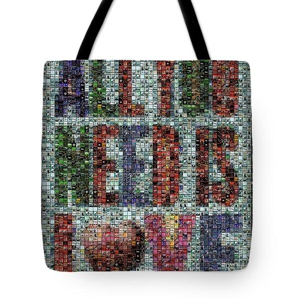 All You Need Is Love Mosaic Tote Bag by Paul Van Scott