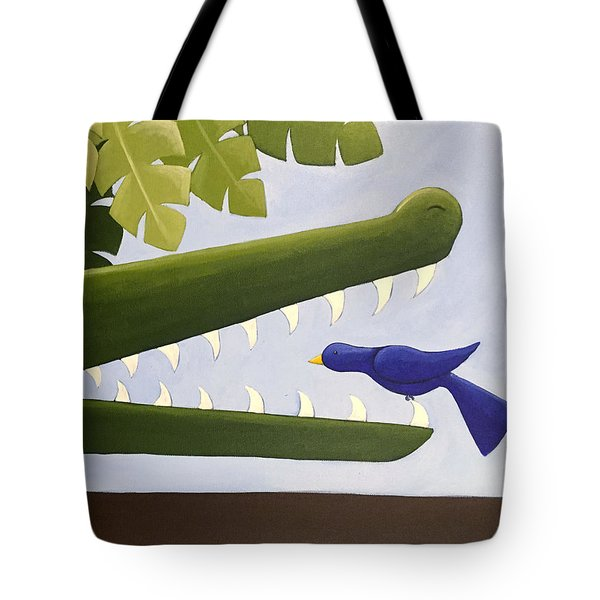 Alligator Nursery Art Tote Bag by Christy Beckwith