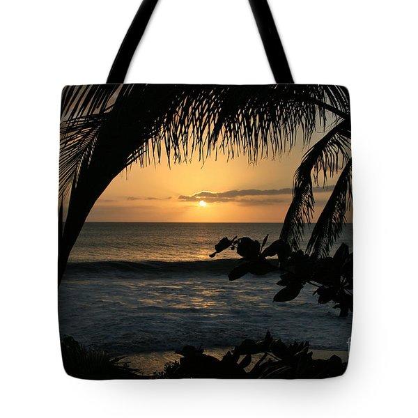 Aloha Aina the Beloved Land - Sunset Kamaole Beach Kihei Maui Hawaii Tote Bag by Sharon Mau