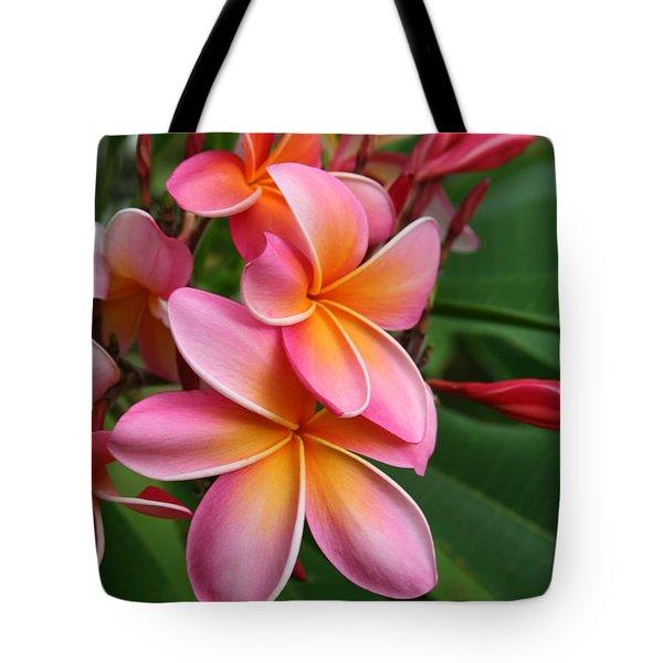Aloha Lei Pua Melia Keanae Tote Bag by Sharon Mau
