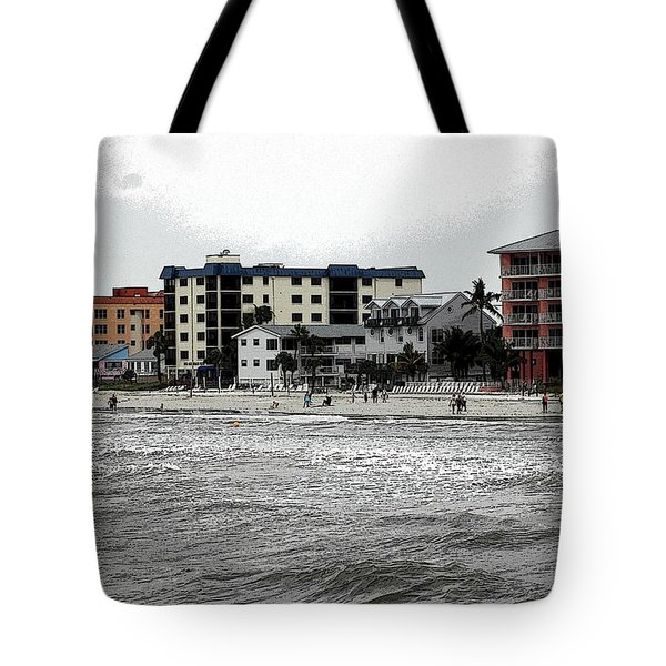 Along The Beach Tote Bag by Kathleen Struckle