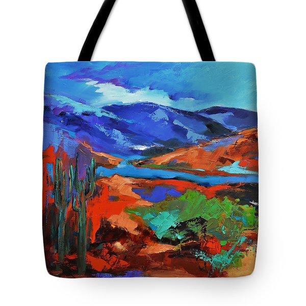 Along The Trail - Arizona Tote Bag by Elise Palmigiani