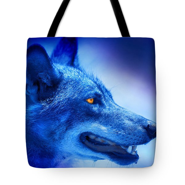 Alpha Wolf Tote Bag by Mal Bray