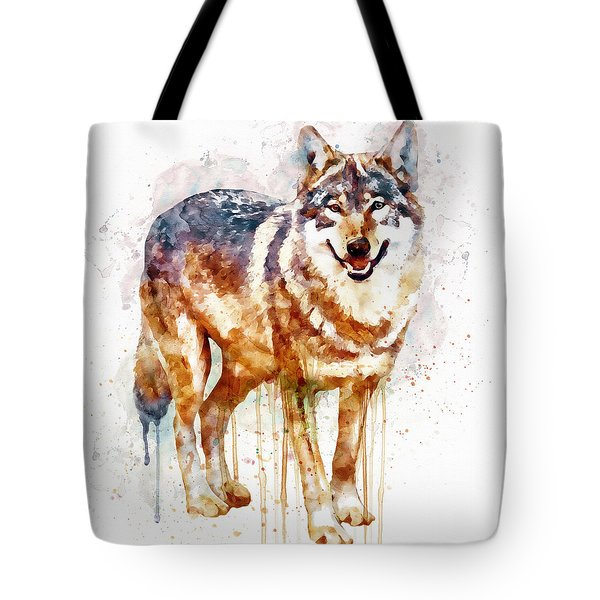 Alpha Wolf Tote Bag by Marian Voicu
