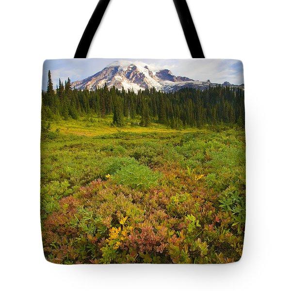 Alpine Meadows Tote Bag by Mike  Dawson