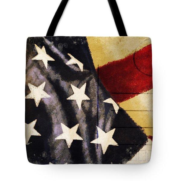 America flag pattern postcard Tote Bag by Setsiri Silapasuwanchai