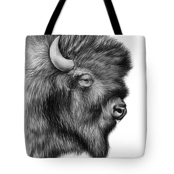 American Bison Tote Bag by Greg Joens