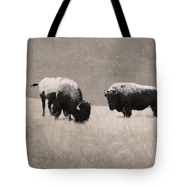 American Bison Tote Bag by Ron Jones