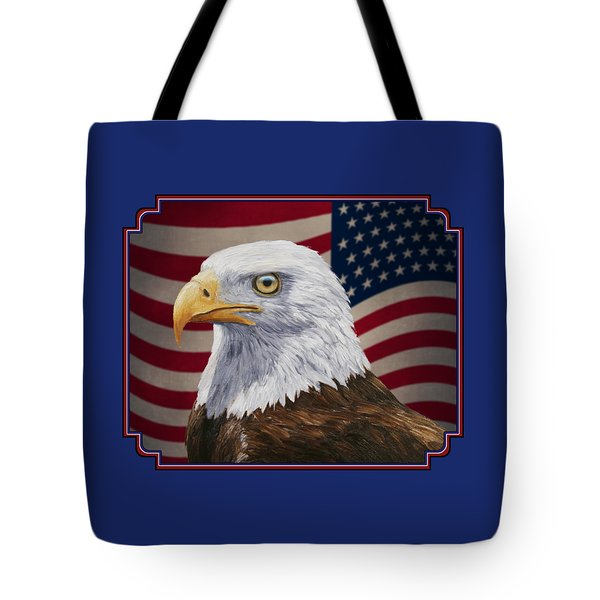 American Eagle Phone Case Tote Bag by Crista Forest