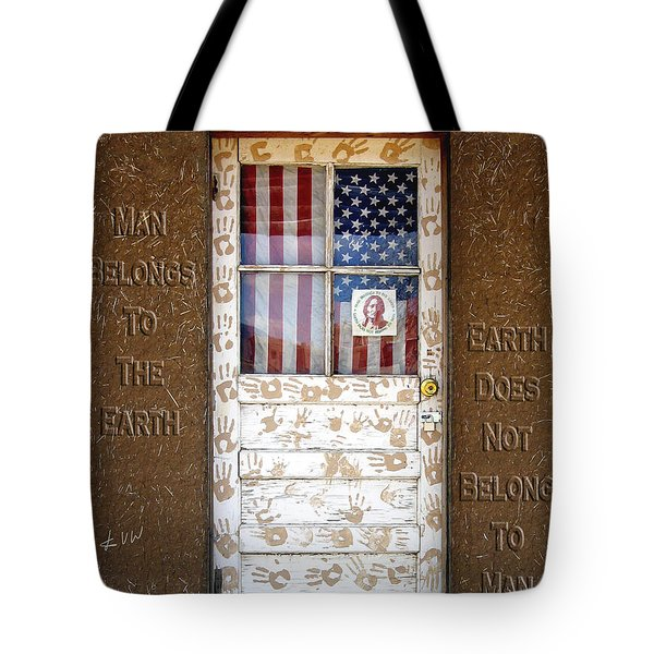 American Native Finger Prints Tote Bag by Kurt Van Wagner