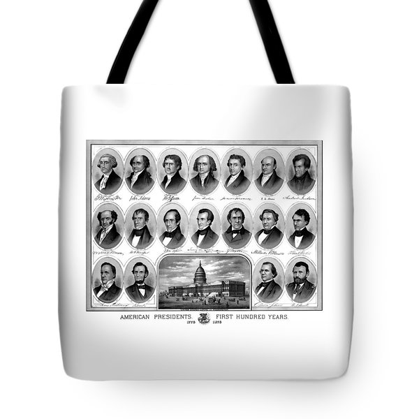 American Presidents First Hundred Years Tote Bag by War Is Hell Store