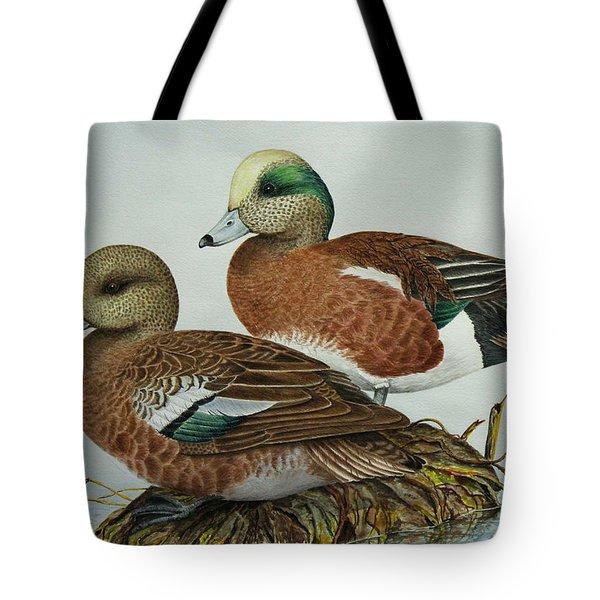 American Widgeons Tote Bag by Elaine Booth-Kallweit
