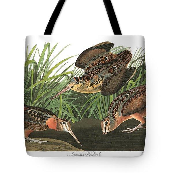 American Woodcock Tote Bag by John Audubon