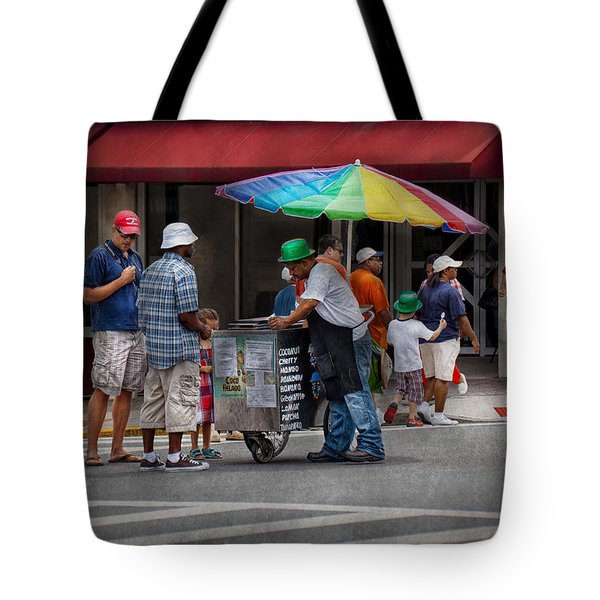 Americana - Mountainside NJ - Buying Ices  Tote Bag by Mike Savad