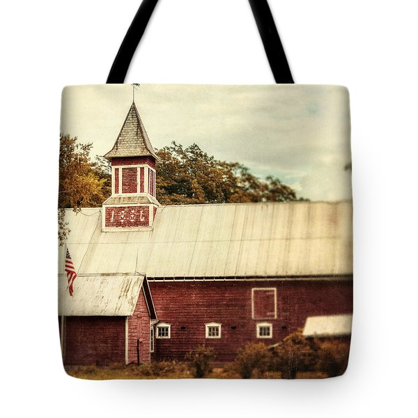 Americana Barn Tote Bag by Lisa Russo