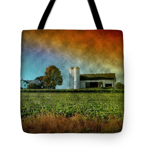Amish Country Farm Tote Bag by Bill Cannon