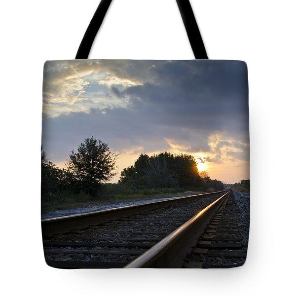 Amtrak Railroad System Tote Bag by Carolyn Marshall