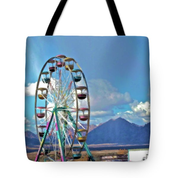 Amusement View Tote Bag by Gwyn Newcombe