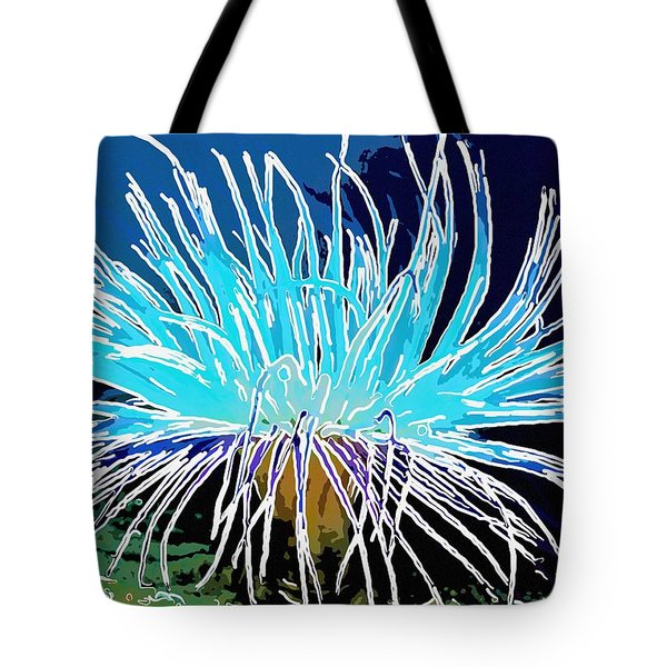 An abstract scene of sea anemone 1 Tote Bag by Lanjee Chee