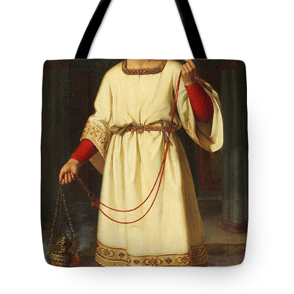 An Altar Boy Tote Bag by Abraham Solomon