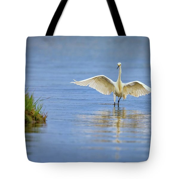An Egret Spreads Its Wings Tote Bag by Rick Berk