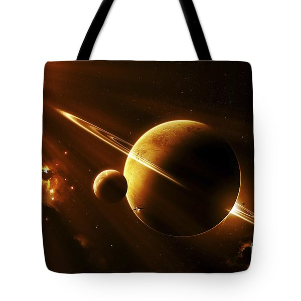 An Extraterrestrial Spacecraft Tote Bag by Kevin Lafin