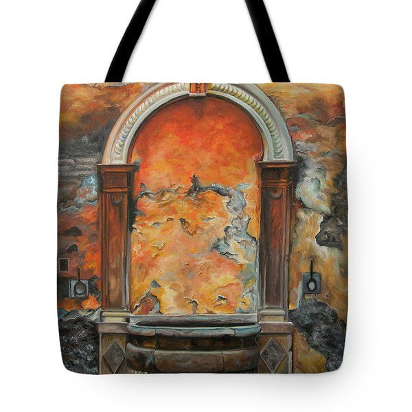 Ancient Italian Fountain Tote Bag by Charlotte Blanchard