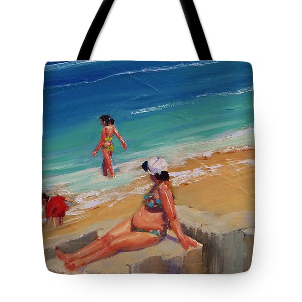 And Baby Makes Three Tote Bag by Laura Lee Zanghetti