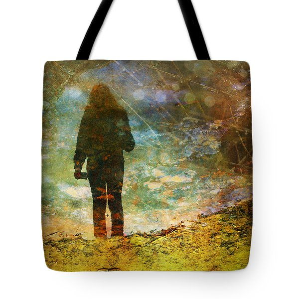 And Then He Turned Her World Upside Down Tote Bag by Tara Turner