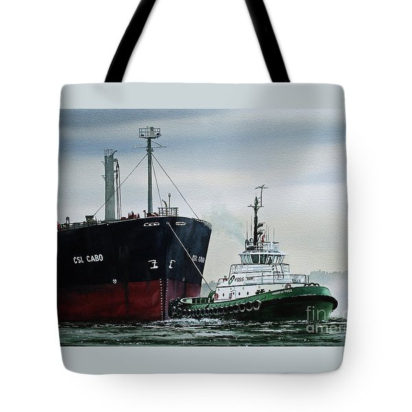 Andrew Foss Ship Assist Tote Bag by James Williamson