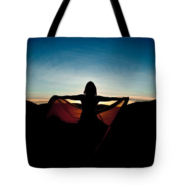 Angel At Sunset Tote Bag by Scott Sawyer