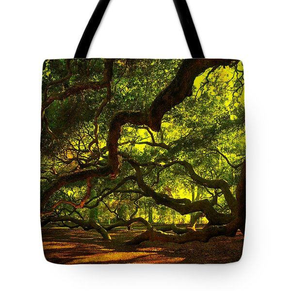 Angel Oak Limbs 2 Tote Bag by Susanne Van Hulst