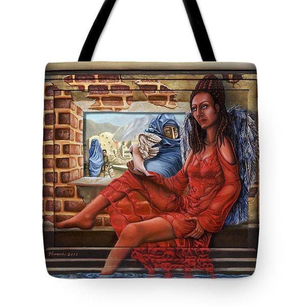 Angel Of Peace Tote Bag by Karen Musick