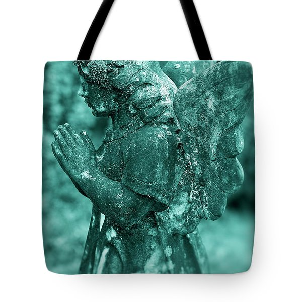 Angel Prayer Tote Bag by John Greim